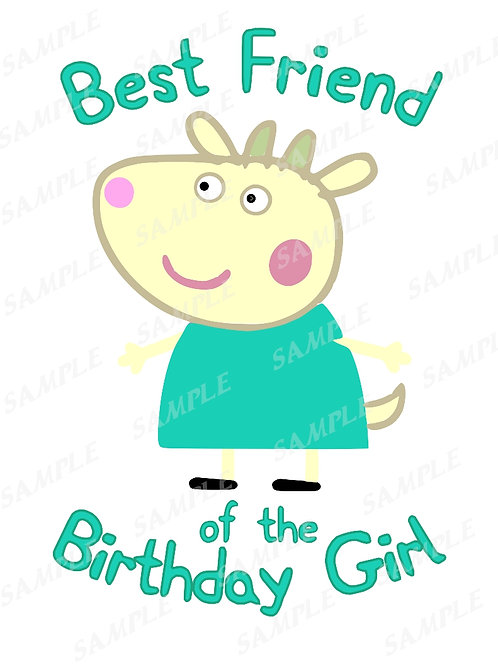 Suzy Sheep Peppa Pig Best Friend of the birthday girl. Peppa Pig Iron on