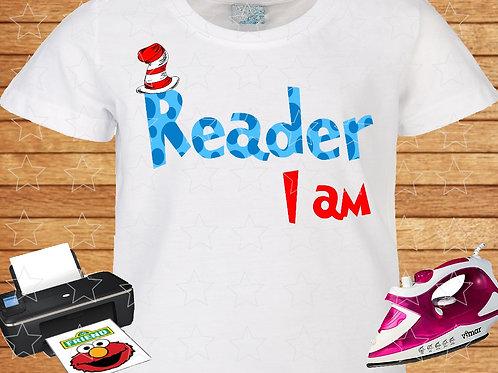 dr. seuss reader I am shirt