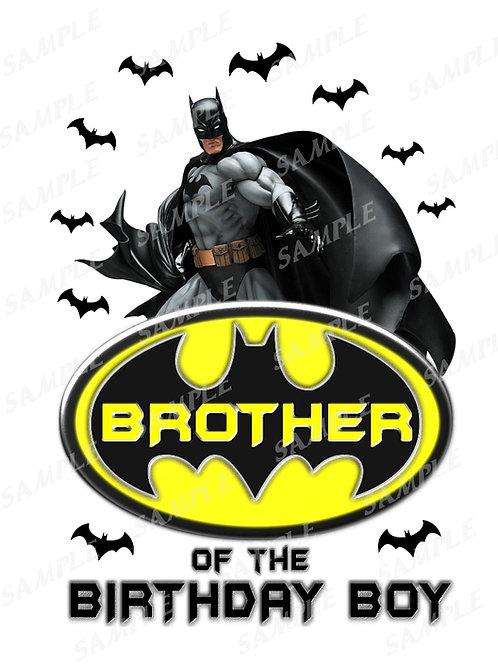Batman Birthday Shirt. Batman Iron on Transfer. Brother Outfit.
