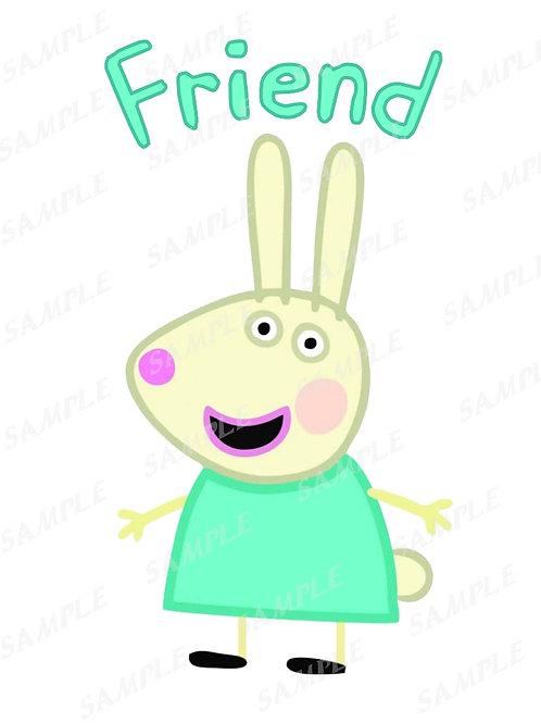 Peppa Pig Rebecca Rabbit shirt, Iron on Transfer. PNG, JPG, printable