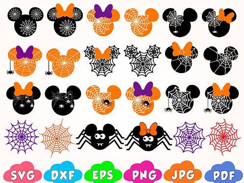 Disney Halloween Spider Web svg