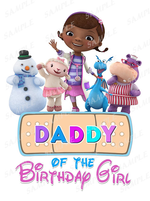 Doc McStuffins Birthday Shirt, Doc McStuffins Family Shirts. Daddy