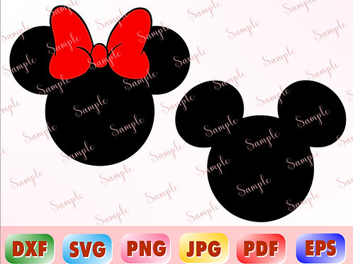 Mickey Mouse svg, Disney Mickey Mouse head