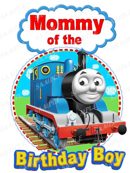 Thomas the Tank Engine mommy birthday shirt