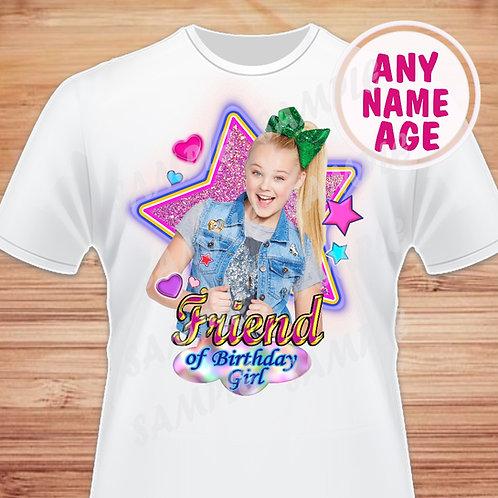 JoJo Siwa birthday shirt friend