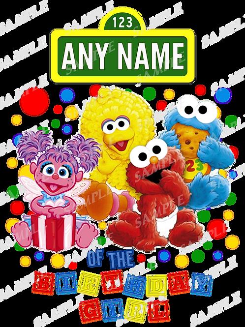 Sesame Street Abby Birthday Shirt Heat transfer. Any Name.
