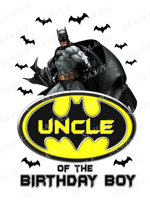 Batman Birthday Shirt. Batman Iron on Transfer. Uncle