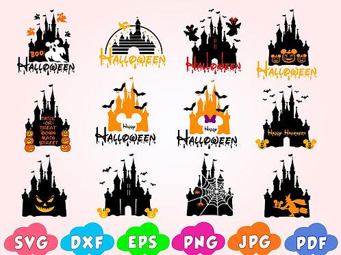 Disney Halloween Castle svg