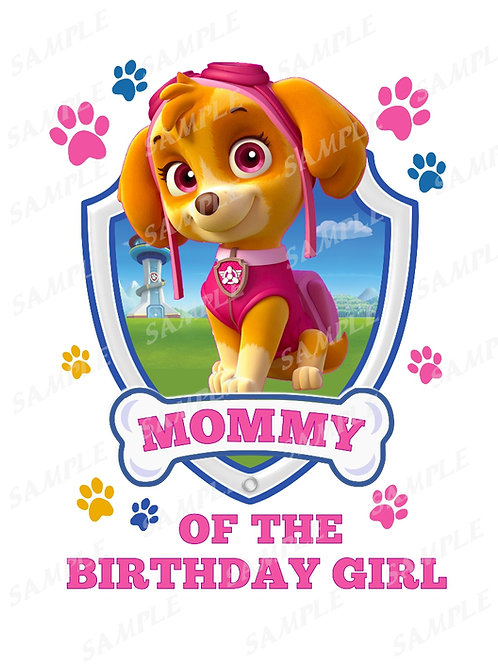 Paw patrol Skye | mommy | instant download | iron on transfer