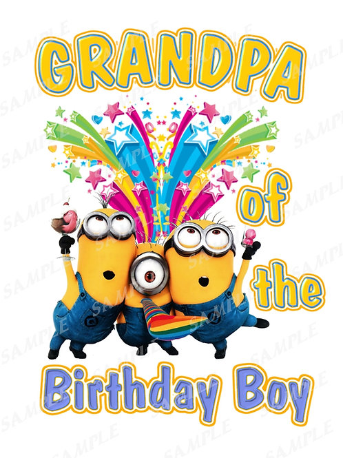Minions Birthday shirt. Minions Iron on transfer. Download Grandpa