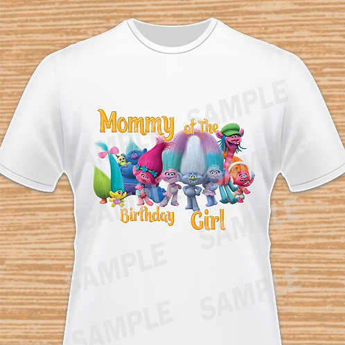 Trolls Birthday Shirt, Trolls iron on Transfer, Trolls Mommy, Trolls