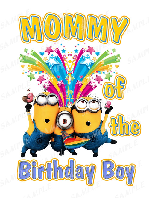 Minions Birthday shirt. Minions Iron on transfer. Download Mommy