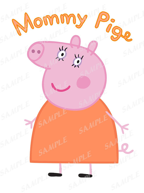 Peppa Pig birthday shirt, Iron on transfer. Mommy Pig. JPG, PNG download