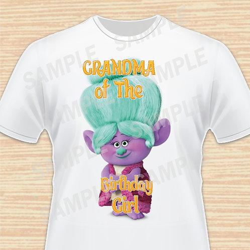 trolls grandma birthday shirtTrolls Grandma Rosiepuff iron on transfer, Trolls Grandma Shirt