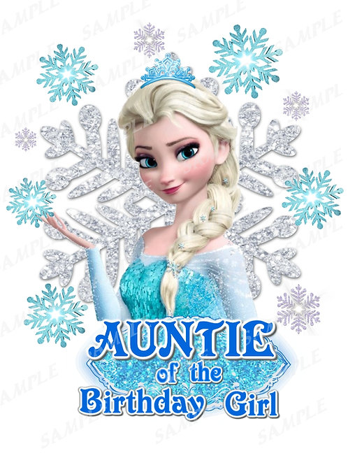 Frozen Birthday Shirt. Frozen Iron on Transfer. Auntie Outfit