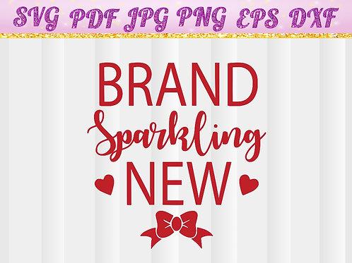 Brand Sparkling New Heart SVG, Cut File, Vector, Cricut Files, Silhouette Files