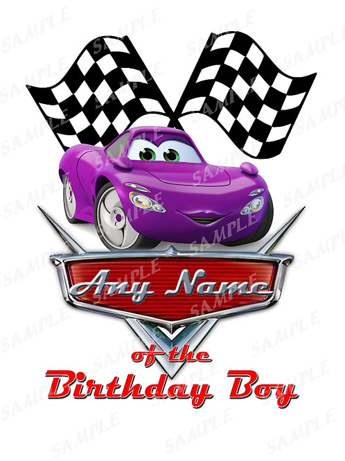 Disney Cars Birthday Shirt. Disney Cars Iron on transfer. Grandma