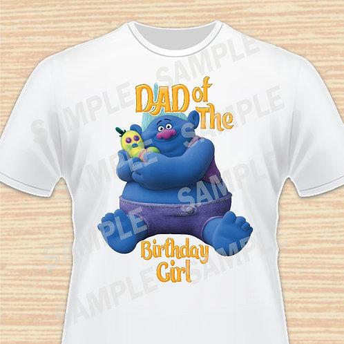Trolls Biggie birthday shirt, Trolls Biggie Dad iron on transfer