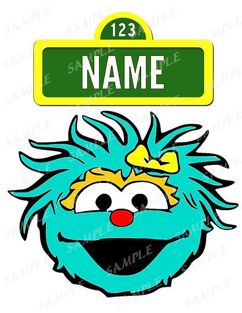 Sesame Street Rosita Digital File For Iron On Transfer Any Name