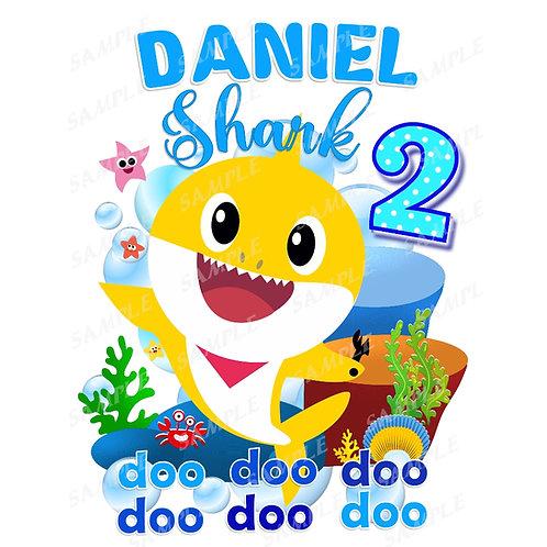 Baby Shark Birthday Shirt. Iron on Transfer. Birthday Boy