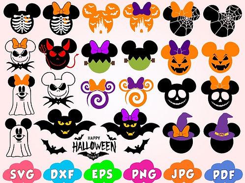 Disney Halloween SVG. Mickey Halloween SVG. Halloween Mickey SVG. Kit 5