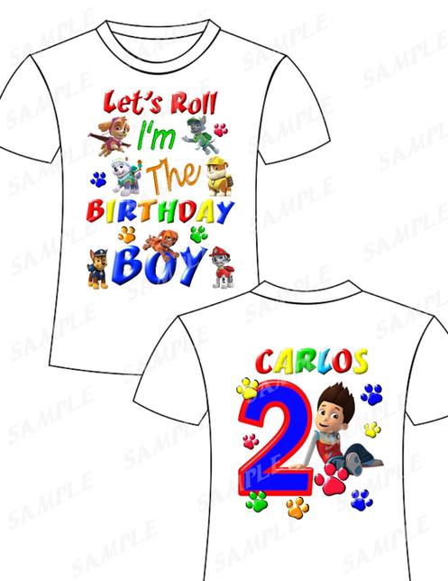 Paw Patrol Birthday ShirtPaw BoyPaw Outfit Boyqzj