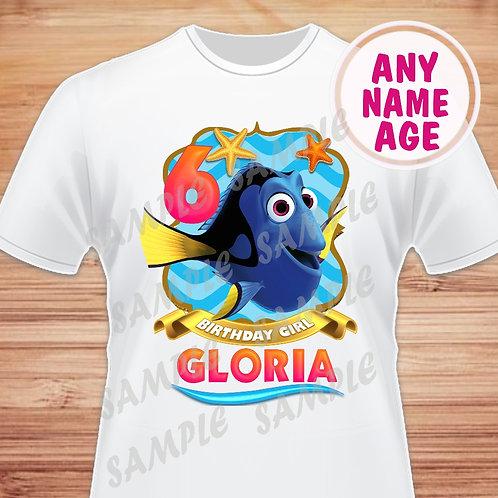 Finding Dory Birthday Girl, Heat Transfer, Birthday Shirt. PNG.