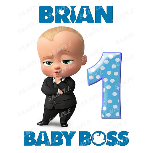 Boss Baby Birthday Shirt. Boss Baby Iron on Transfer. Design #3