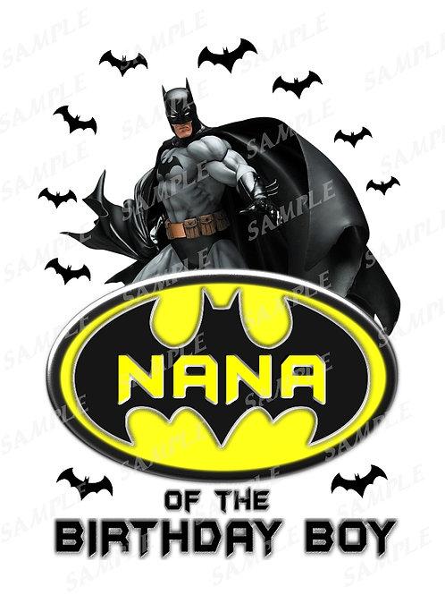 Batman Birthday Shirt. Batman Iron on Transfer. Nana