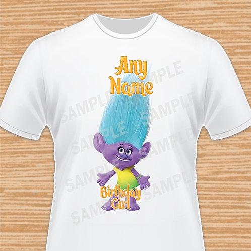 Trolls Cookie Sugarloaf iron on transfer, Trolls Birthday Girl Shirt