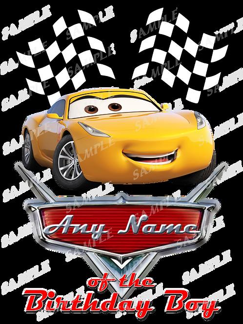 Disney Cars Birthday Shirt. McQueen Cars Iron on transfer. Printable 4