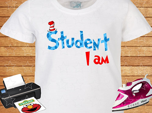 student shirt iron on transfer