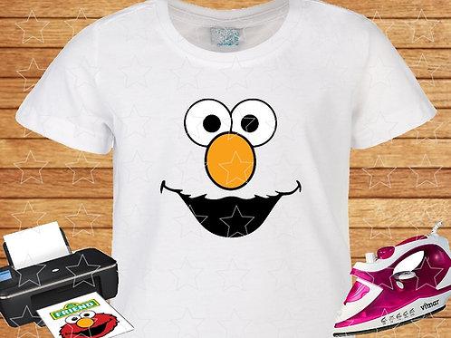 Sesame Street Elmo Eyes shirt, iron on transfer. Instant Download.