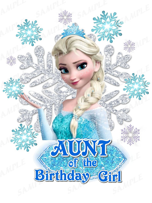 Frozen Birthday Shirt. Frozen Iron on Transfer. Aunt Outfit