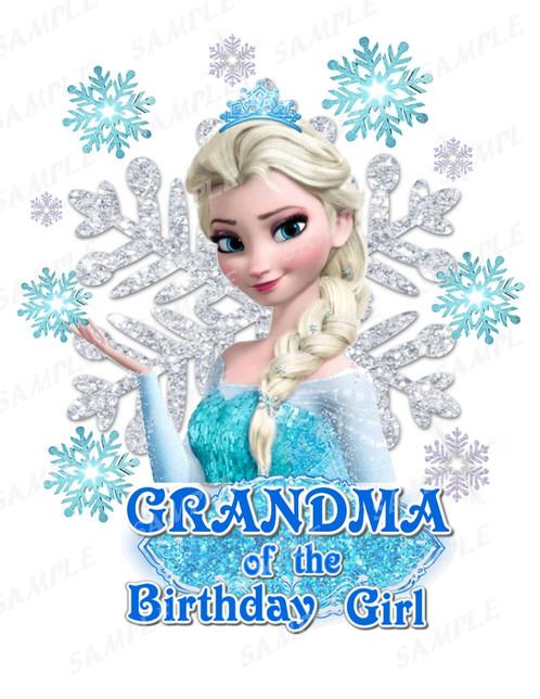 Frozen Birthday ShirtFrozen Iron On TransferFrozen Grandmaqzj