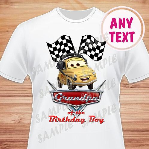 Disney Cars Birthday Shirt. Disney Cars Iron on Transfer. Grandpa