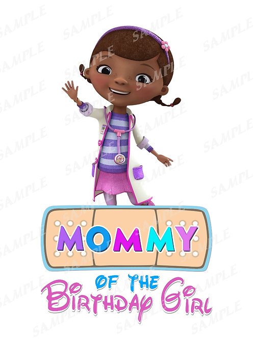 Doc McStuffins Birthday Shirt, Doc McStuffins Iron on, clipart. Mommy