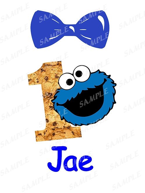 Sesame Street | Iron on transfer | Birthday Shirt | Cookie Monster
