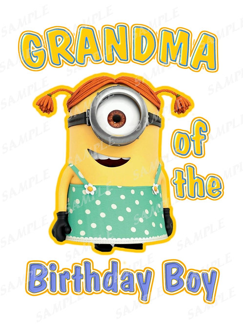 Minions Birthday shirt. Minions Iron on transfer. Printable Grandma
