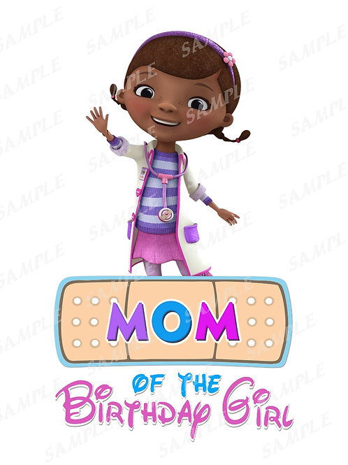 Doc McStuffins Birthday Shirt, Doc McStuffins Iron on, clipart. Mom