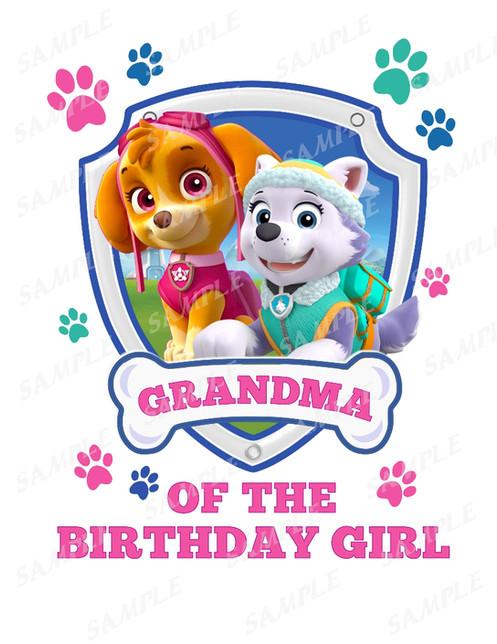 Paw Patrol Birthday ShirtPaw Outfit GrandmaPaw Skyeqzj