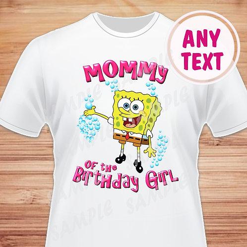 SpongeBob Birthday Shirt Iron on Transfer Mommy of the Birthday Girl