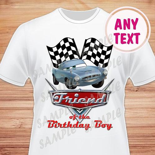 Disney Cars Birthday Shirt. Disney Cars Iron on Transfer. Friend