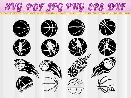 Basketball SVG, Cricut Files, Silhouette Files, Cameo, T-shirt, Iron On Transfer