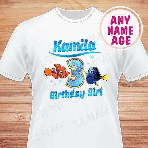 Finding Dory Birthday Girl, Heat Transfer, Birthday Shirt. JPG.