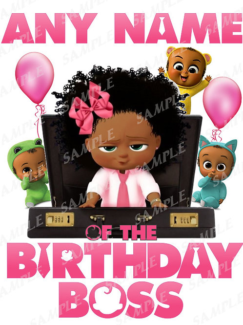 Boss Baby Birthday Girl. African American Girl. Birthday Shirt.