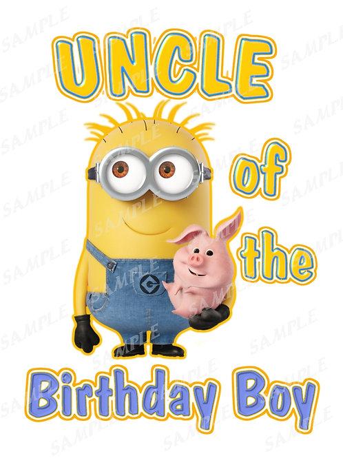 Minions Birthday shirt. Minions Iron on transfer. Printable Uncle