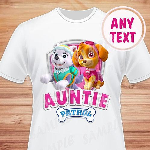 Paw Patrol Skye Everest Birthday Shirt Paw Patrol heat transfer Auntie