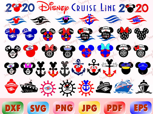 Disney cruise SVG, Mickey cruise SVG, Mickey anchor svg, Mickey waves