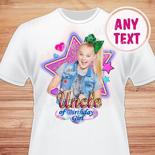 JoJo Siwa Birthday Shirt. JoJo Iron on Transfer Family shirts Uncle
